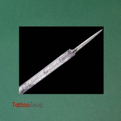 1RL Tattoonadel - Tätowiernadel an Nadelstange, steril verpackt.