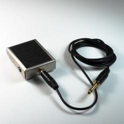 Fußschalter aus Edelstahl mit RCA-Kabel
